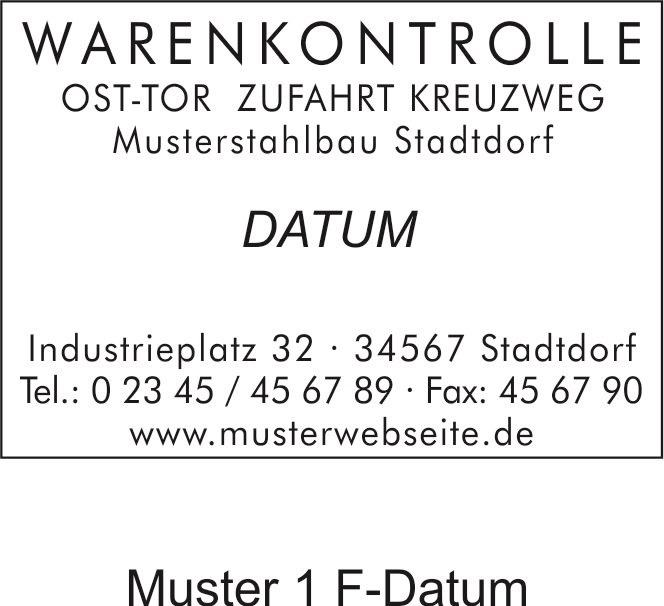 Printer-Dater bis 6 Textzeilen+Datum